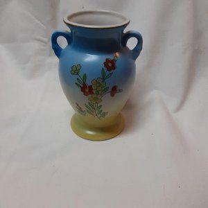 Vtg. Trico Double Handle Vase